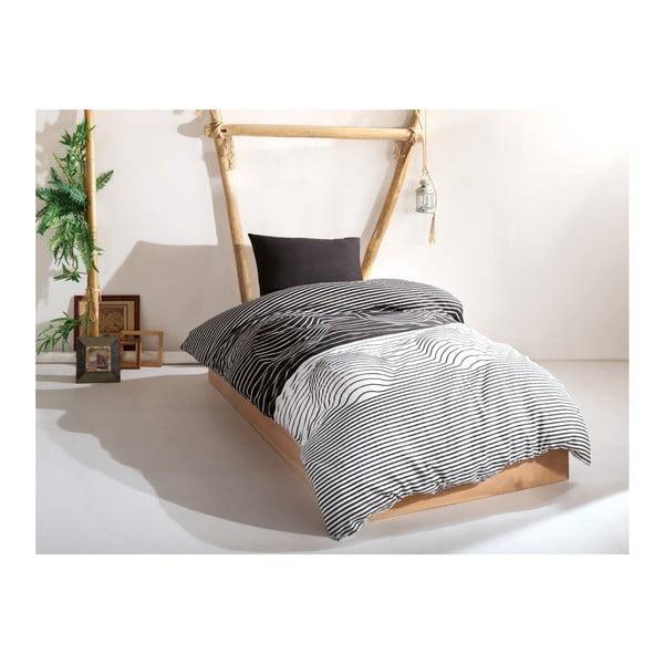 Set lenjerie și cearșaf din bumbac pentru pat single Leslie, 160 x 220 cm