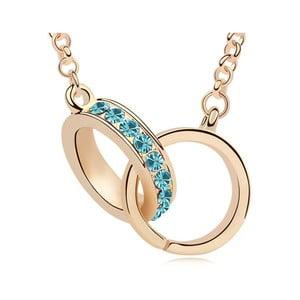 Pozlacený náhrdelník s modrými krystaly Swarovski Compania