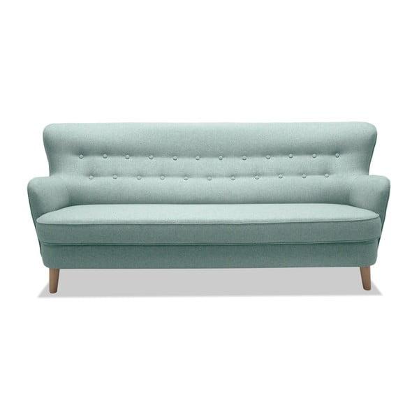 Jasnoturkusowa sofa 3-osobowa Vivonita Eden