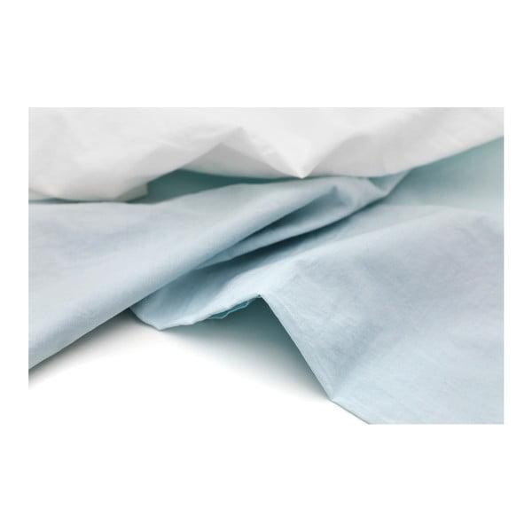 Světle modro-bílý povlak na polštář z bavlněného perkálu L'Officiel Interiors, 50x70cm