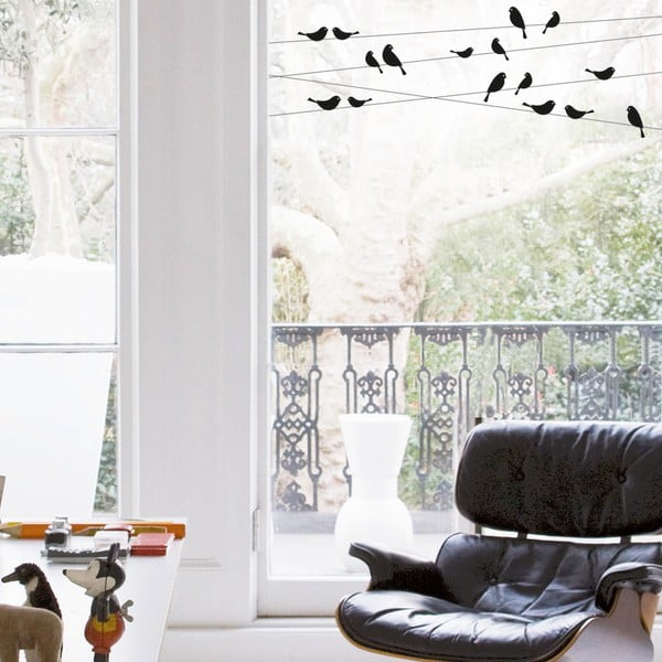 Samolepka na okno Ptáčci