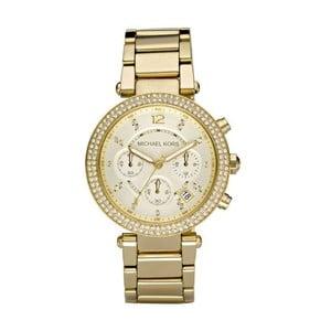 Dámské hodinky s kamínky zlaté barvy Michael Kors