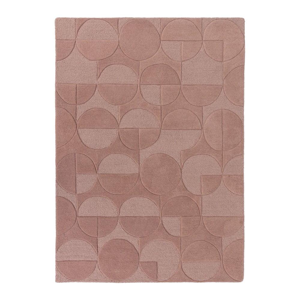 Růžový vlněný koberec Flair Rugs Gigi, 120 x 170 cm