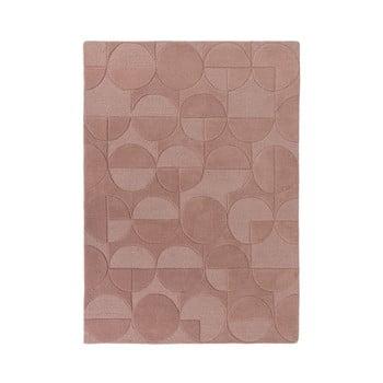 Covor din lână Flair Rugs Gigi, 160 x 230 cm, roz