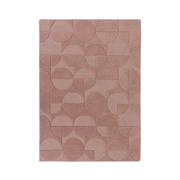 Růžový koberec z vlny Flair Rugs Gigi, 120 x 170 cm