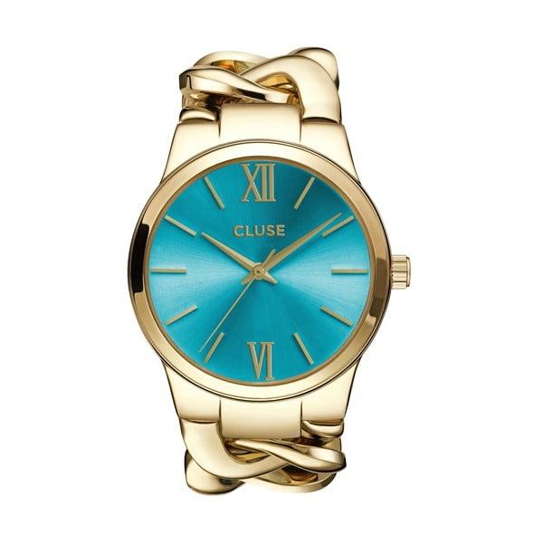 Dámské hodinky Elegante Gold/Blue Lagoon, 38 mm