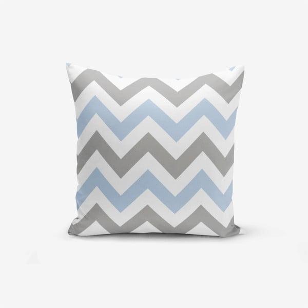 Povlak na polštář Minimalist Cushion Covers Zigzag Modern Blue, 45x45cm