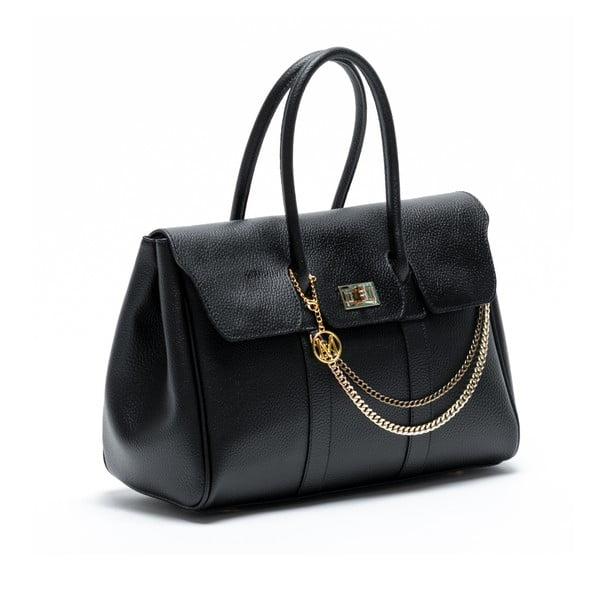 Kožená kabelka Francisca, černá