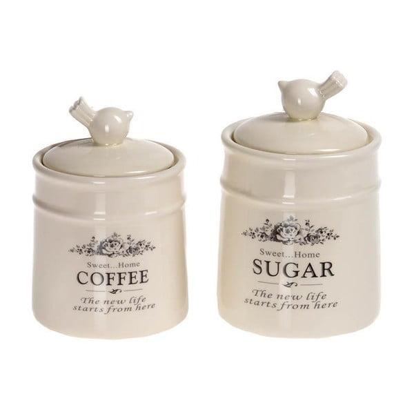 Sada  dóz na kávu a cukr Porcelain