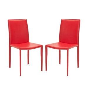 Sada 2 židlí Karna, červené