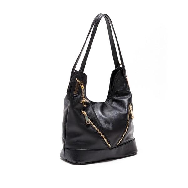 Kožená kabelka Renata Corsi 2111 Nero