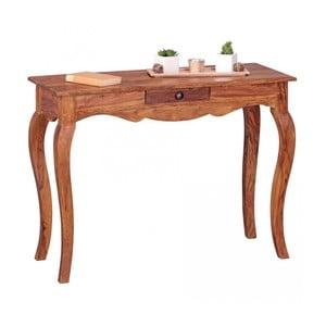 Pracovní stůl z masivního sheeshamového dřeva Skyport OPIUM