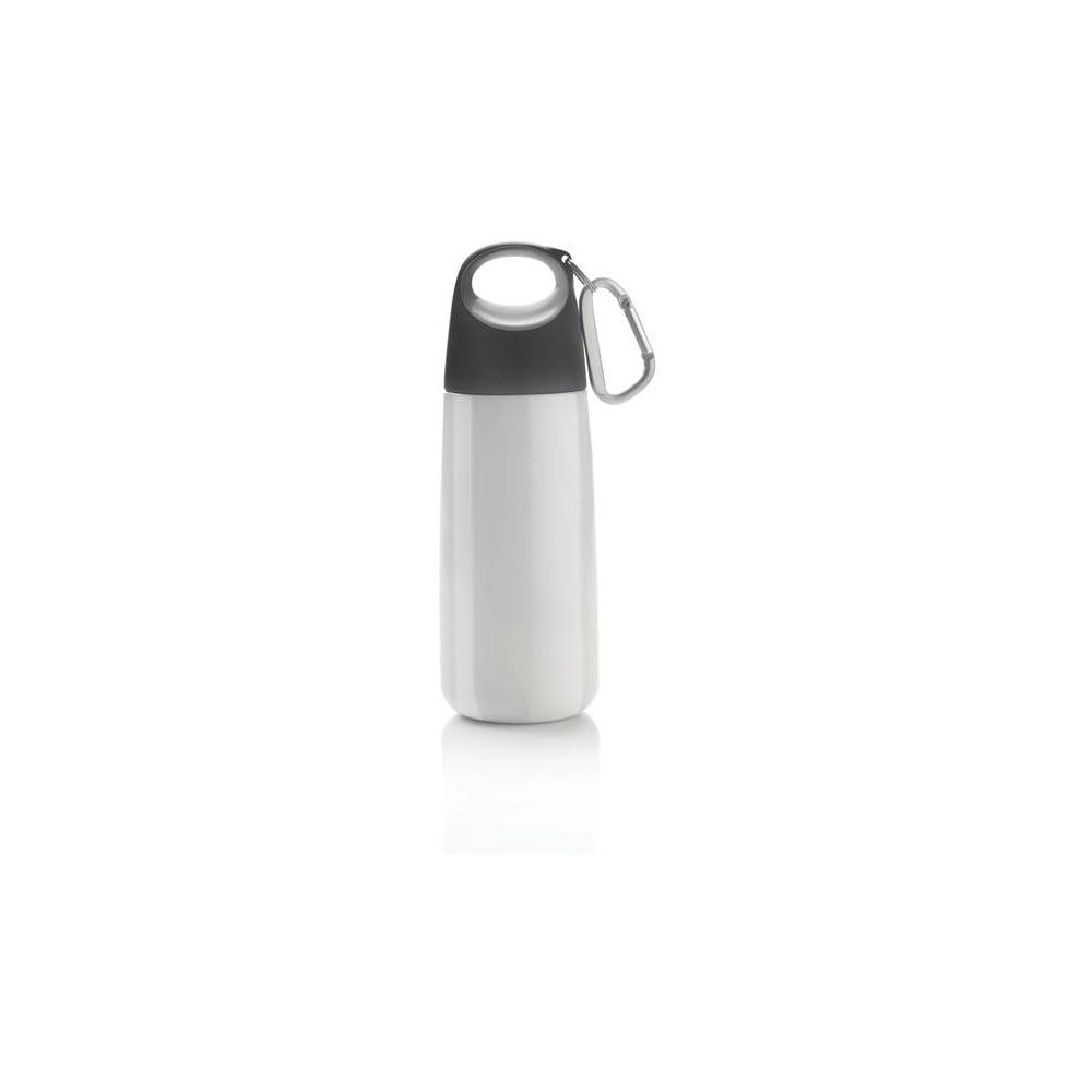 Bílo-šedá lahev s karabinkou XDDesign Mini Bopp