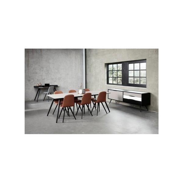 Tmavě hnědý psací stůl WOOD AND VISION Stick, 136 x 60 cm