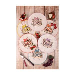 Sada 6 dezertních keramických talířů Kutahya Chandler