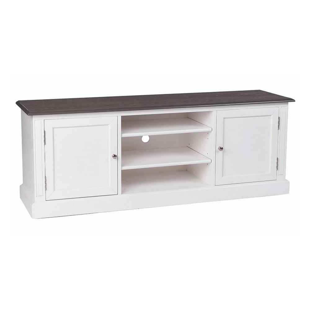 Bílý televizní stolek Folke Viktoria, šířka 160 cm