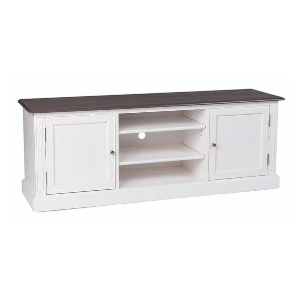 Bílý televizní stolek Folke Viktoria, šířka 160cm