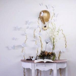 Sada 12 stříbrných samolepek Ambiance Butterflies