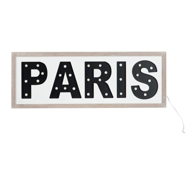 Svítící LED závěsný nápis Paris