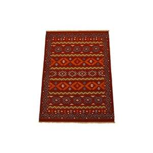 Ručně tkaný koberec Red Yellow Symbols, 140x200 cm