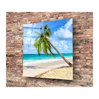 Tablou din sticlă 3D Art Palm Tree, 40 x 40 cm