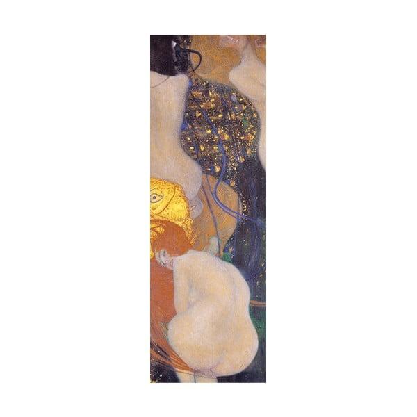 Reprodukce obrazu Gustav Klimt - Goldfish, 90 x 30 cm