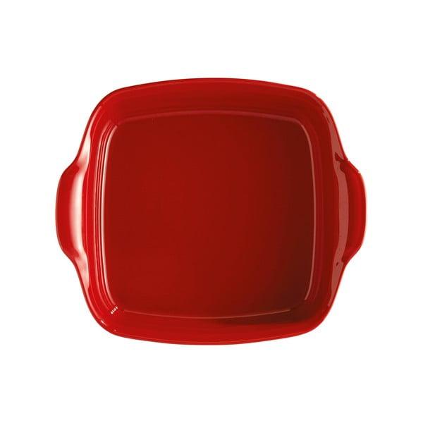 Formă pentru copt din ceramică Emile Henry, 24 x 24 cm, roșu