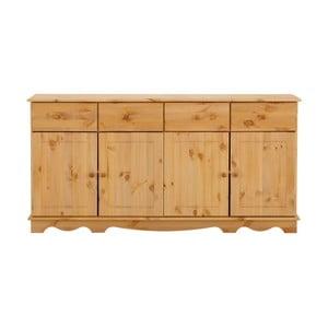 Dulap din lemn de pin pentru veselă, cu 4 uși, Støraa Cheryl