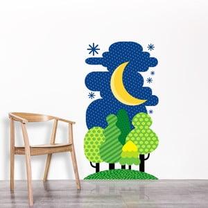 Nástěnná samolepka Forest at Night, 45x83 cm