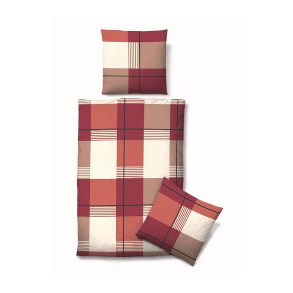 Povlečení Biber Komfort Block Red, 135x200 cm