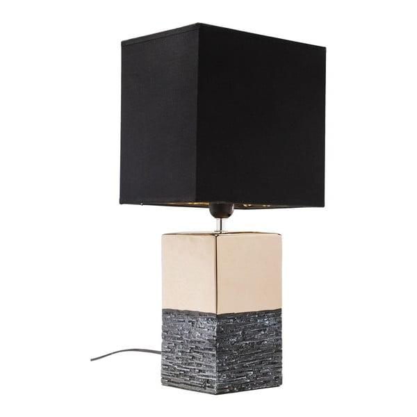 Creation nagyméretű aranyszínű asztali lámpa, fekete lámpabúrával - Kare Design