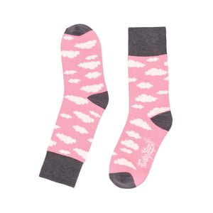 Růžové ponožky Funky Steps Cloudy, vel. 35-39