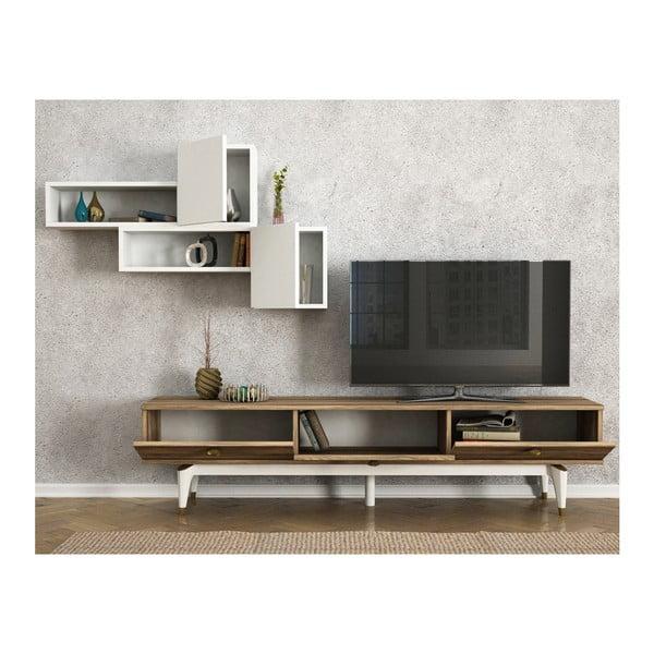 Set comodă TV, raft și dulap Buse