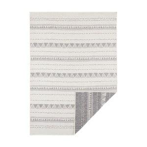 Šedo-krémový oboustranný koberec vhodný i na ven Bougari Bahamas, 200 x 290 cm