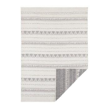 Covor reversibil adecvat interior/exterior Bougari Bahamas, 120 x 170 cm, gri-crem