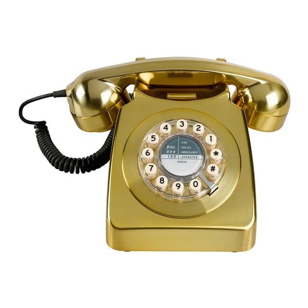Retro funkční telefon Serie 746 Brushed Brass
