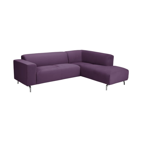 Fialová rohová pohovka Windsor & Co Sofas Orion pravý roh