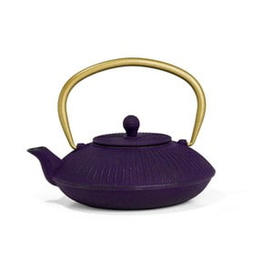 Ceainic din fontă cu infuzor Bredemeijer Linhai 1,1 l,  mov închis