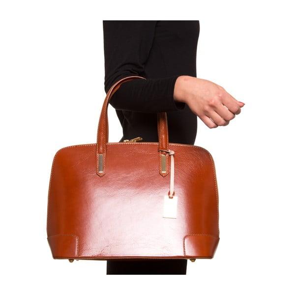 Kožená kabelka Luisa Vanini 364, koňak