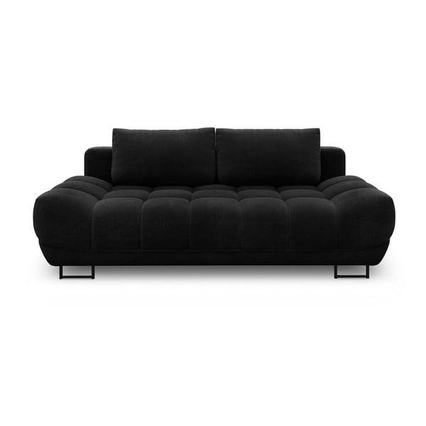 Cumulus fekete háromszemélyes kinyitható kanapé - Windsor & Co Sofas