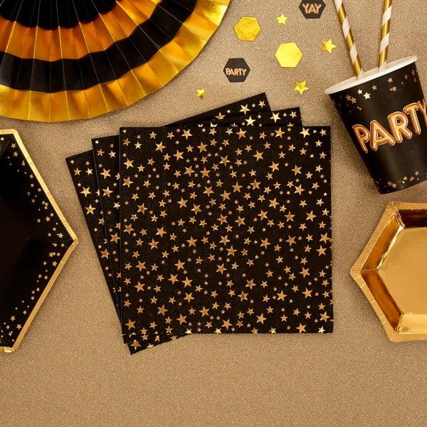 Glitz & Glamour papír szalvéta szett, 16 db - Neviti
