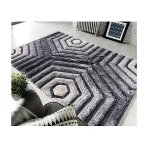 Šedý koberec Flair Rugs Hexagon Grey, 160 x 230 cm