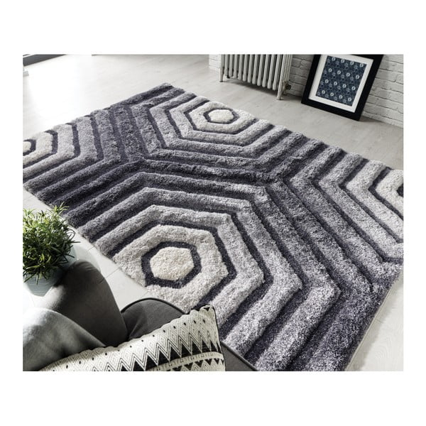776602630b79ce Szary dywan Flair Rugs Hexagon Grey, 120x170 cm