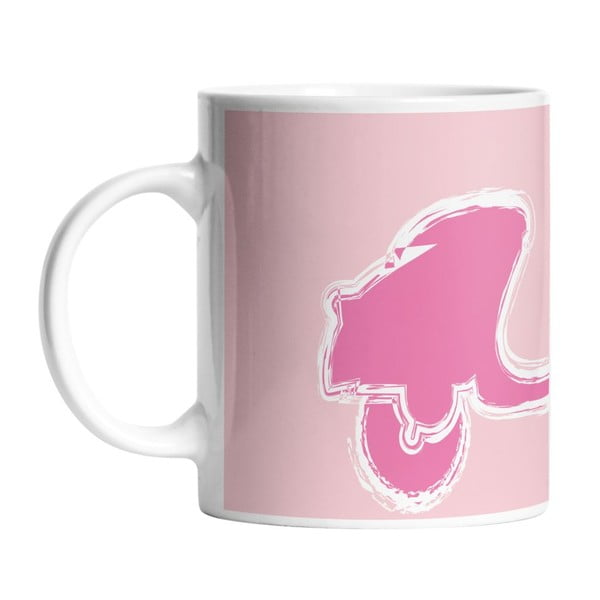 Keramický hrnek Pink Vespa, 330 ml
