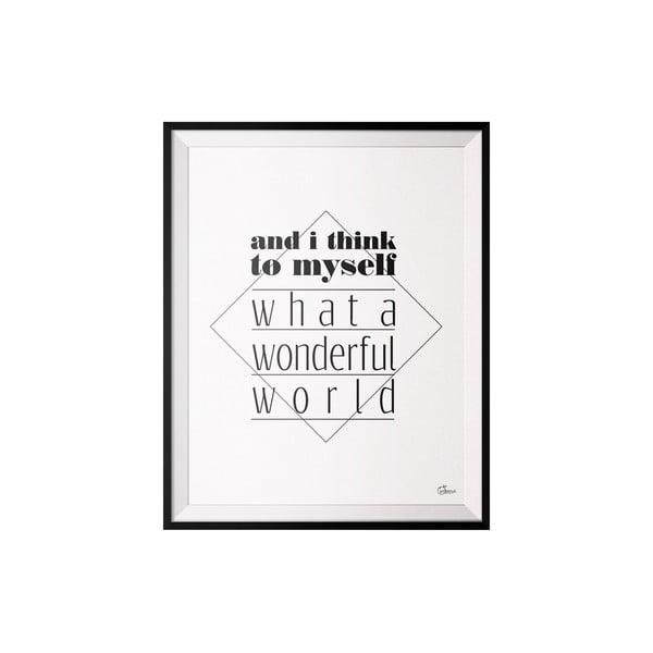 Plakát Wonderfull, 40x50 cm