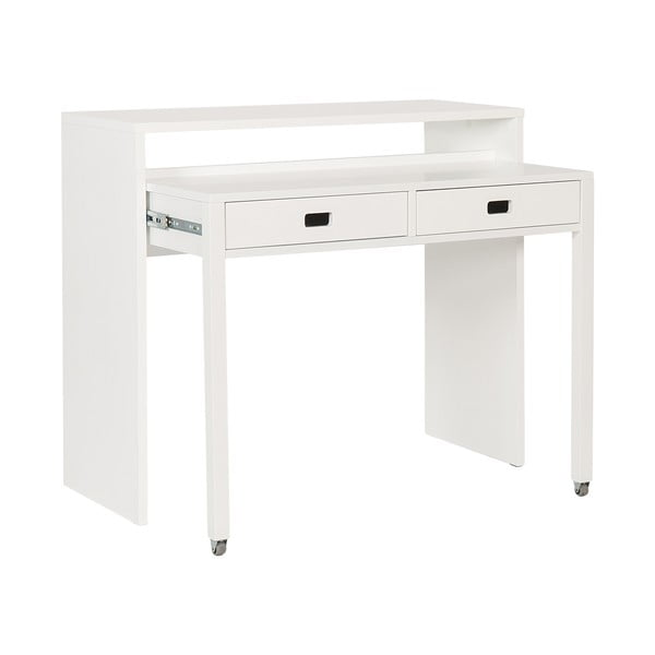 Psací/odkládací konzolový stolek Tordis White