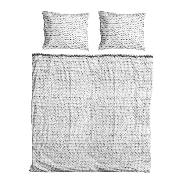 Lenjerie de pat Snurk Twirre Grey, 200 x 200 cm