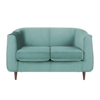 Canapea cu 2 locuri Kooko Home GLAM turcoaz