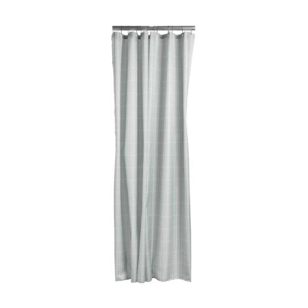 Tiles szürkészöld zuhanyfüggöny, 180x200 cm - Zone