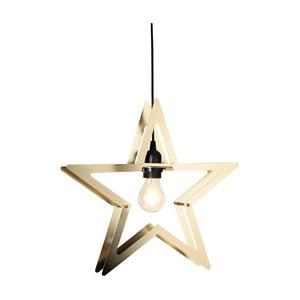 Závěsná LED hvězda v barvě mosazi Best Season